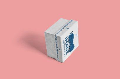 Mockup of an Angled Gift Box on a Flat Surface 3458-el1