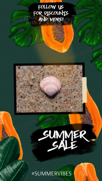 Instagram Story Video Maker Featuring Animated Tropical Fruit Graphics 839