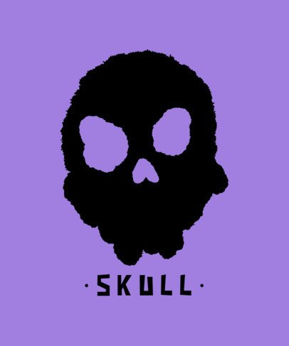 Stencil-Styled T-Shirt Design Maker with a Skull Clipart 722b-el1