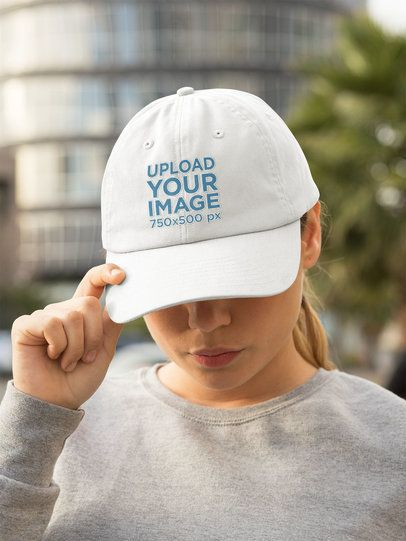 Dad Hat Mockup of a Woman with an Athleisure Outfit 32457