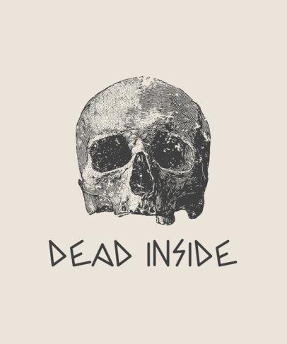 Quote T-Shirt Design Creator Featuring a Glooming Cranium 723b-el1