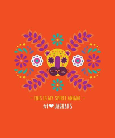 T-Shirt Design Maker with a Mayan Jaguar Illustration 2402e