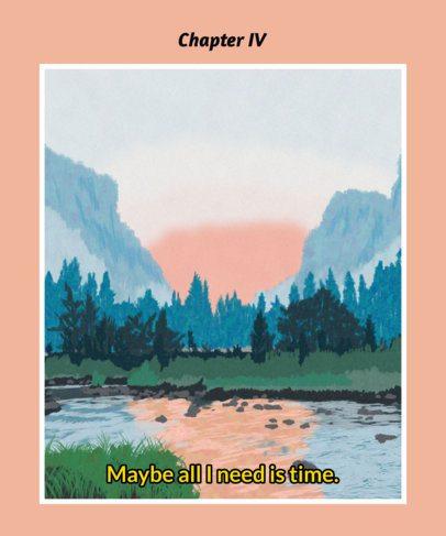 T-Shirt Design Maker Featuring Landscape Paintings 2411