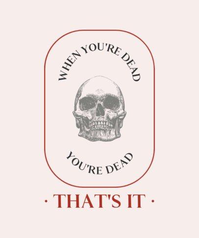 T-Shirt Design Maker Featuring Realistic Skull Drawings 724-el1