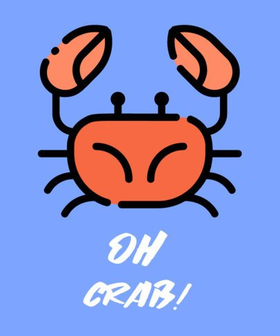 T-Shirt Design Maker Featuring a Crab Graphic 730c-el1