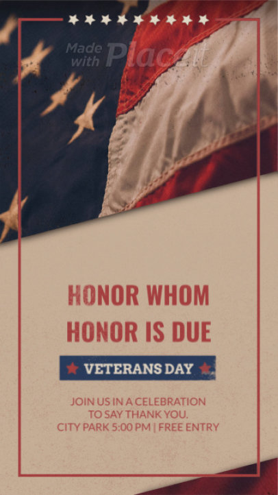 Instagram Story Video Generator for a Veterans Day Celebration 1310