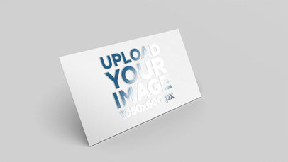 Mockup of a Business Card with a Varnish Finish 33796