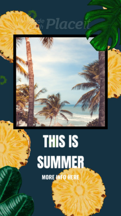 Instagram Story Video Maker Featuring Animated Tropical Graphics 848