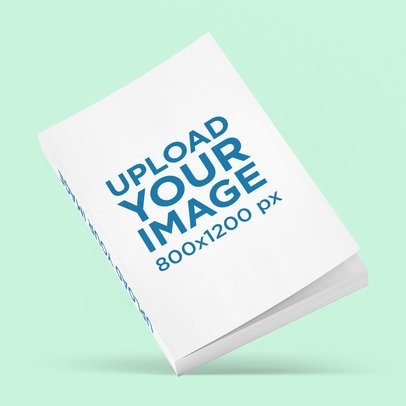 Mockup of a Book Featuring a Customizable Background 3437-el1