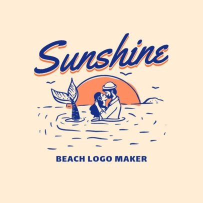 Logo Maker for a Beach Apparel Brand with Vintage Design 3087a