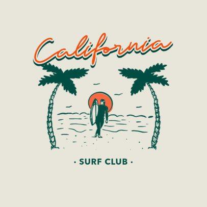 Vintage Surf Club Logo Generator 3087f