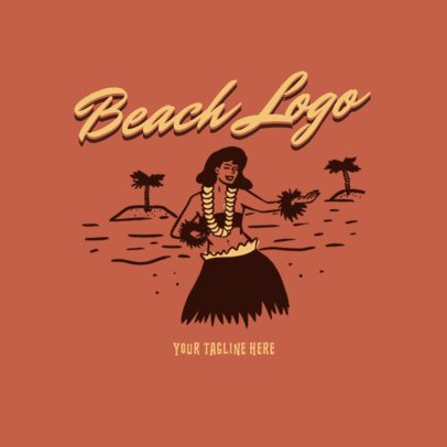 Cool Vintage Logo Maker for a Beachy Clothing Brand 3087g