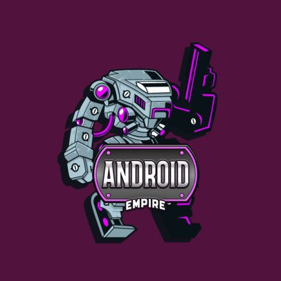 Gaming Logo Template With a Titanfall-Inspired Robot Graphic 3092e