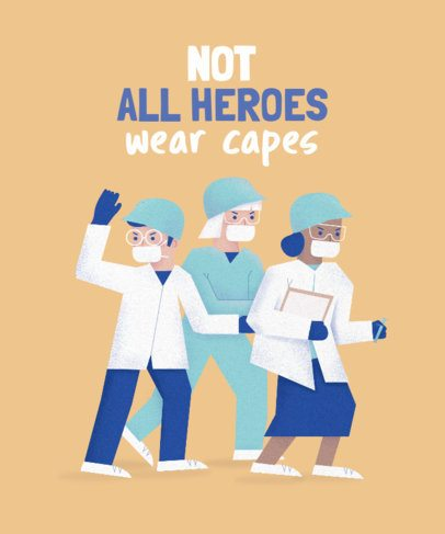 T-Shirt Design Creator Featuring Female Doctors and Nurses 2397f