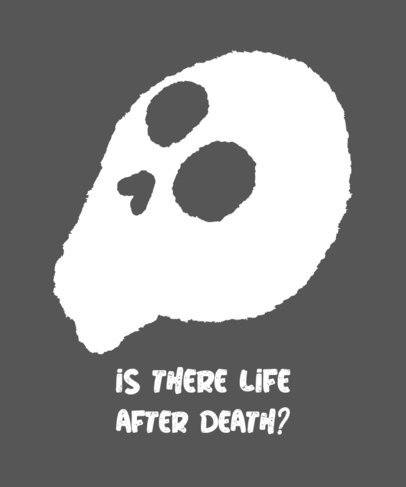 Illustrated T-Shirt Design Maker with a Questioning Skull 722d-el1