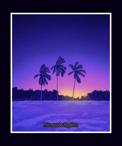T-Shirt Design Generator with a Beach Sunrise Landscape 2411c