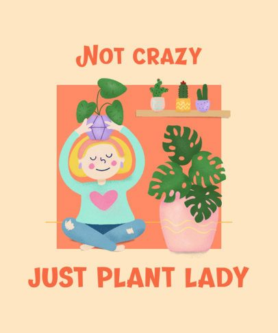 T-Shirt Design Creator For Proud Plant Ladies 2394d