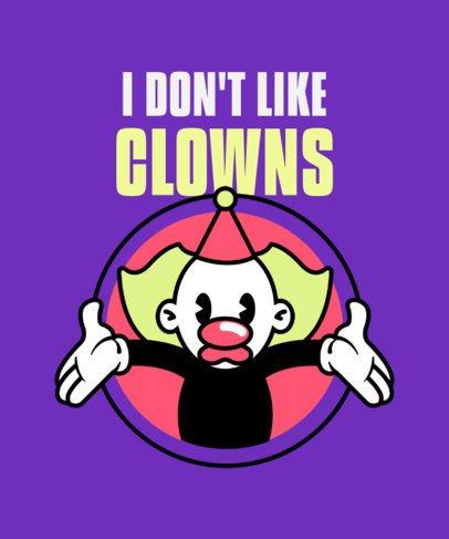 T-Shirt Design Creator with a Clown Cartoon 2399b