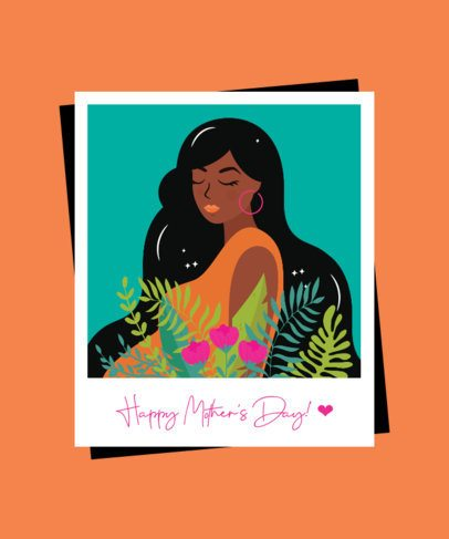 T-Shirt Design Template for Mother's Day Featuring Illustrated Picture Frames 2425