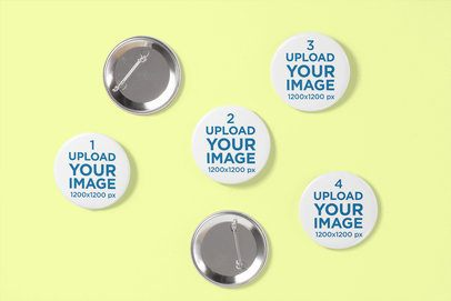 Mockup Featuring Multiple Pin Buttons 3518-el1