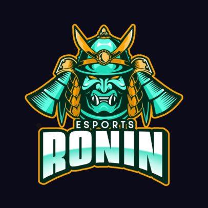 eSports Logo Creator Featuring a Fierce Samurai Mask 800a-el1
