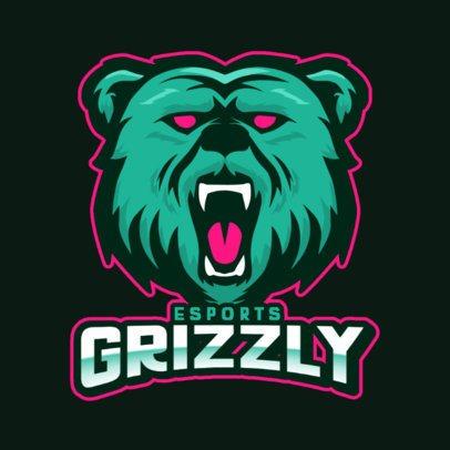 Gaming Team Logo Generator with a Scary Bear Mascot 800b-el1