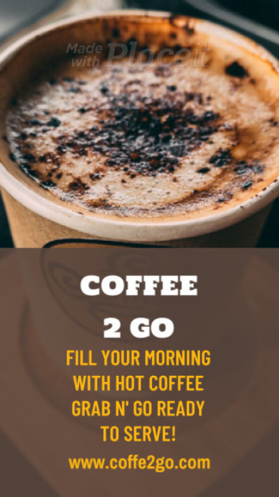 Instagram Story Video Maker for a Coffee House Promo 209