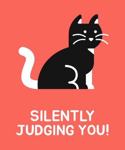 Judging Cat T-Shirt Design Maker 24b