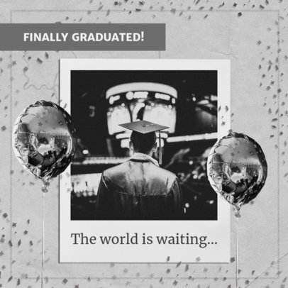 Monochromatic Instagram Post Maker for Graduation Day 2431l