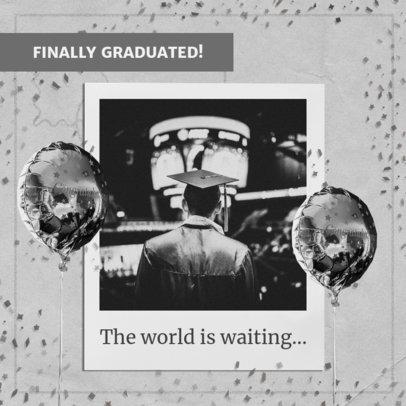 Monochromatic Instagram Post Maker for Graduation Day 2431l