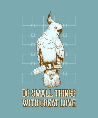 T-Shirt Design Maker with a Beautiful Illustration of a Cockatoo 826