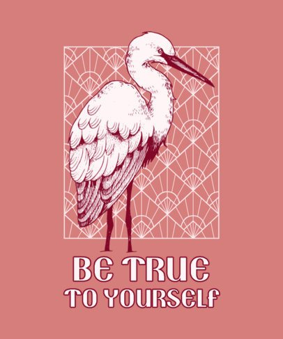 Quote T-Shirt Design Creator Featuring a Heron 826b