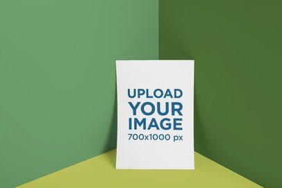 Letterhead Mockup of a Paper Leaning on a Customizable Corner3175-el1