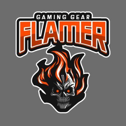 Online Logo Maker Featuring a Burning Skull Head 833a-el1