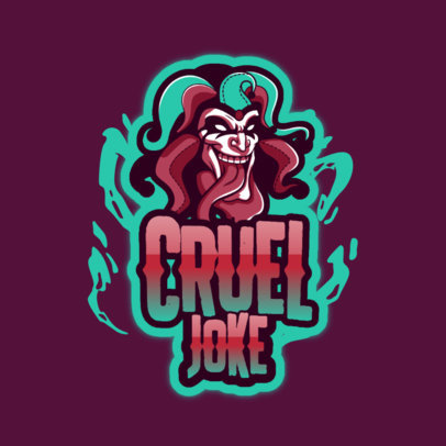Gaming Logo Template With an Insane Joker Graphic 3128k