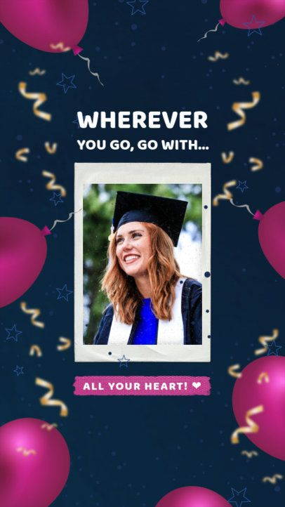 Instagram Story Generator with Graduation Day Balloons 2430b