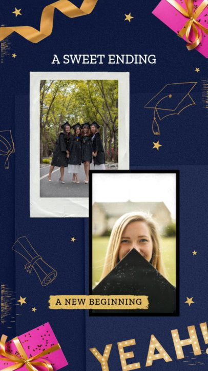 Instagram Story Creator with a Festive Background for Graduation Day 2430d