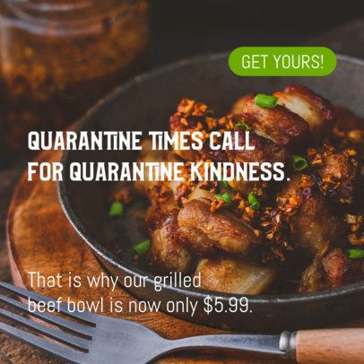 Banner Maker for a Restaurant with a Quarantine Promo 16638i 2445