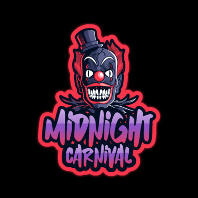Horror Logo Template with a Carnival Clown 3128e