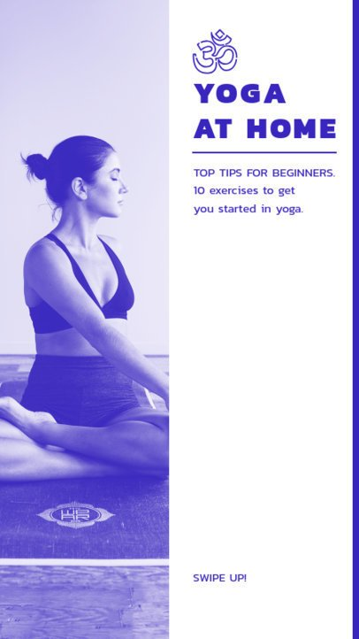 Instagram Story Template Featuring Indoor Yoga Exercises 811-el1