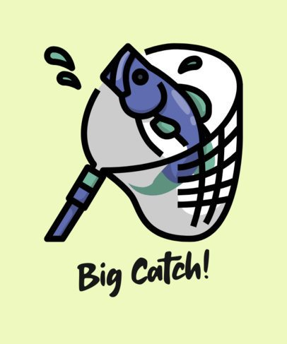 T-Shirt Design Generator For a Fishing Team with a Catch Graphic 758c-el1