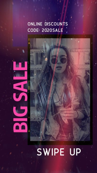 Fashionable Instagram Story Generator for a Big Sale Featuring a Framed Photo 2440i