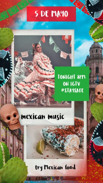Instagram Story Maker for a 5 de Mayo Online Party 2436e