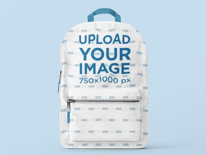 Minimalistic Mockup of a Backpack with a Customizable Background 3541-el1