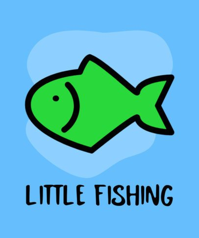 T-Shirt Design Maker Featuring Cartoonish Fishing Graphics 754-el1