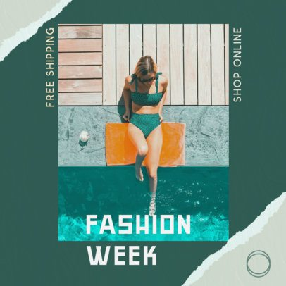 Instagram Post Maker for a Summer Fashion Post 2441f