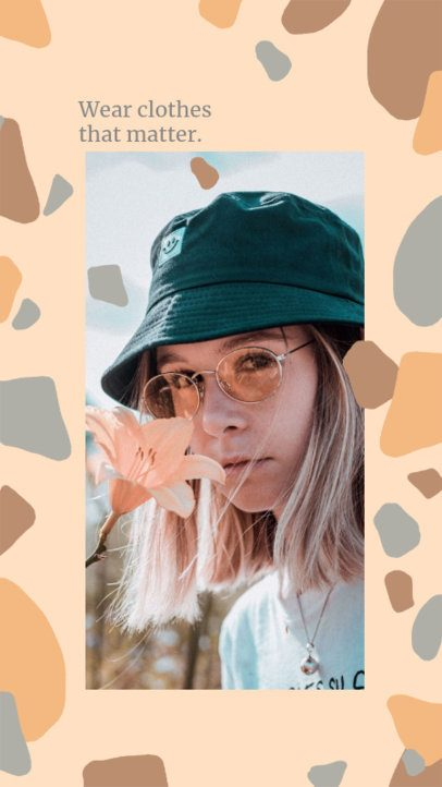 Abstract Instagram Story Design Generator for Ethical Fashion Brands 2438n
