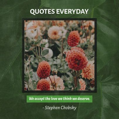 Facebook Post Maker Featuring a Squared Picture Along with a Quote 2442c