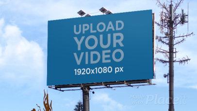 Video of a Billboard Standing Next to an Antenna 32980