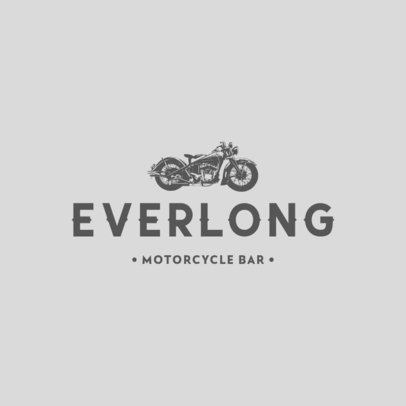 Motorcycle Bar Logo Creator Featuring a Chopper Icon 778b-el1